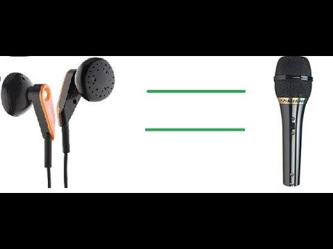Микрофон с наушниками своими руками
