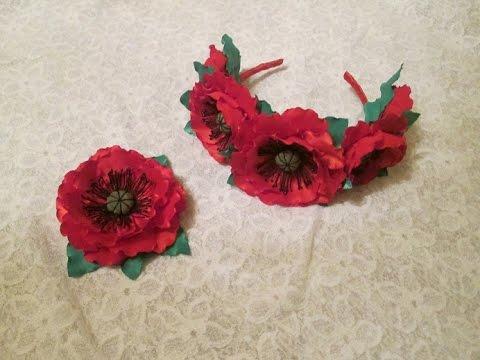 Цветы из ткани своими руками мак