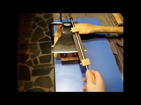 ГНТИ - Как правильно заточить топор. Как точно выставить угол. How To Sharpen an Axe. - Видеорепортажи из мира науки и техники