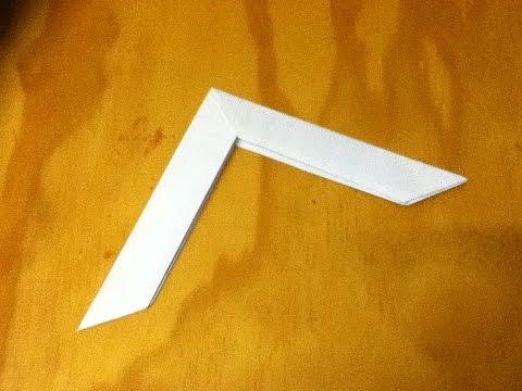 оригами бумеранг из бумаги схема