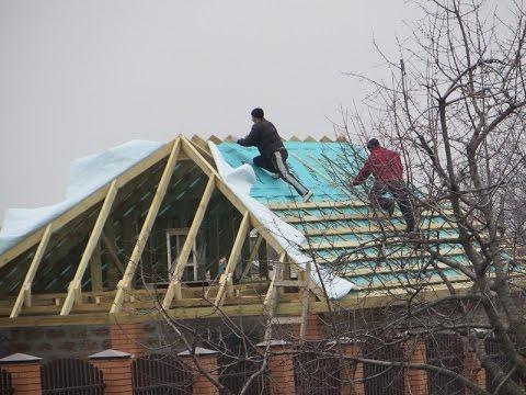 Крыша своими руками пошагово фото