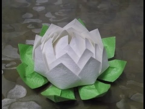 Как сделать из бумаги цветок лотоса
