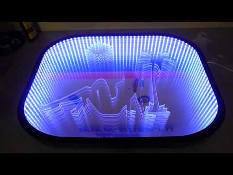 Зеркало с лед подсветкой своими руками видео