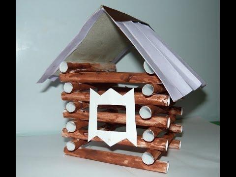 Как сделать домик из бумаги для поделки