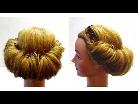 Прически на средние волосы своими руками с ободком