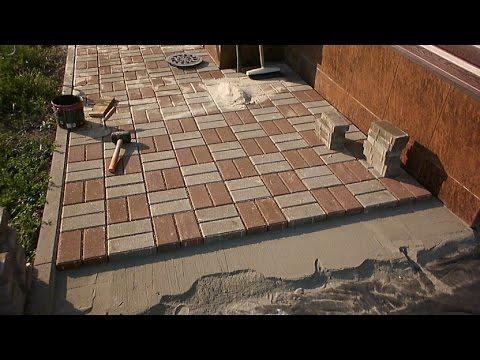 Тротуарная плитка своими руками видео укладка