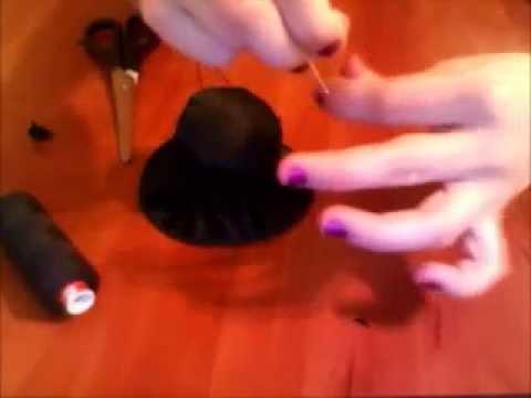 Как сделать шляпу котелок своими руками видео