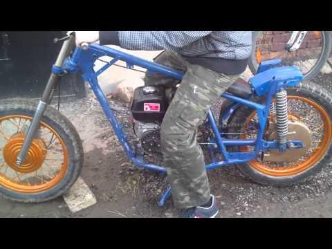 Мотоцикл с двигателем от мотоблока своими руками