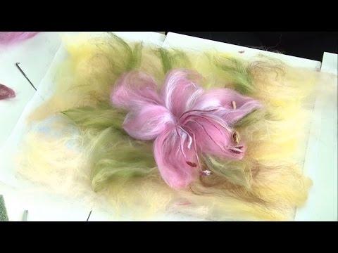 Валяние цветов техники