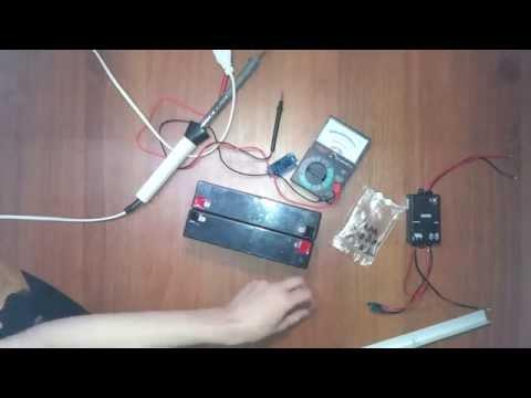 Сделать фонарь на солнечных батареи своими руками