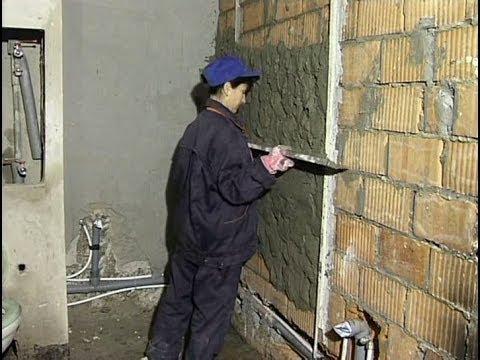 Штукатурка стен гипсокартона своими руками видео