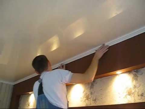 Плинтус на потолок видео