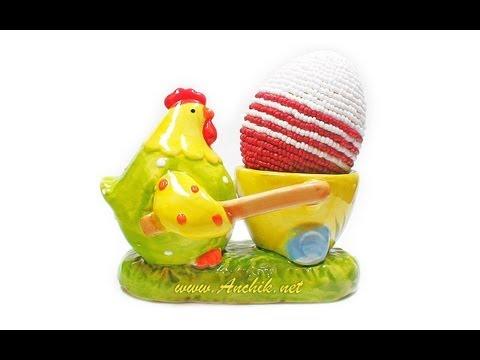 Онлайн видео Tutorial: Easter egg made of beads / Пасхальное яйцо из бисера.  Вы можете посмотреть этот фильм чтобы...