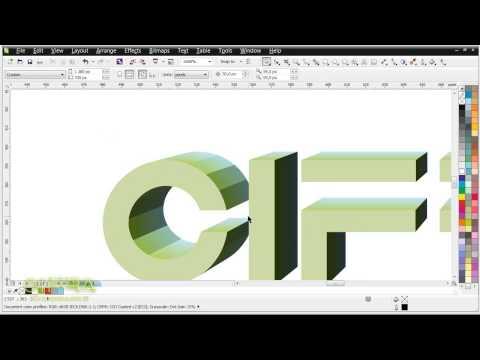 Как сделать объемный буквы в кореле