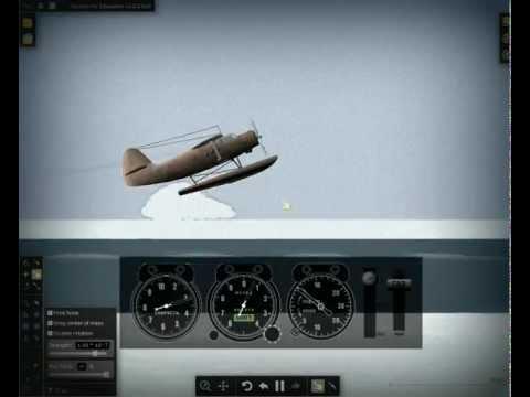 ГНТИ - Algodoo АН-2В симулятор гидроплана (носом в воду) - Видеорепортажи из мира науки и техники