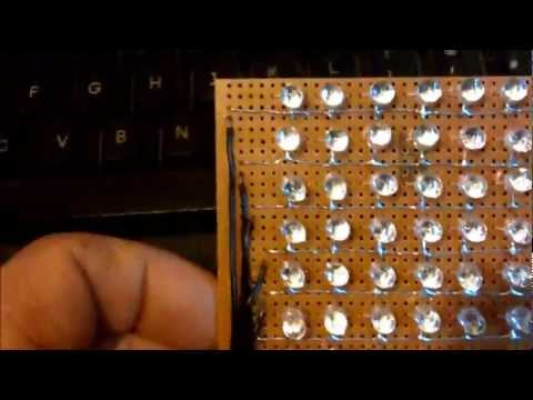 Arduino Dot Matrix 64x8 running text with - Tube of Music