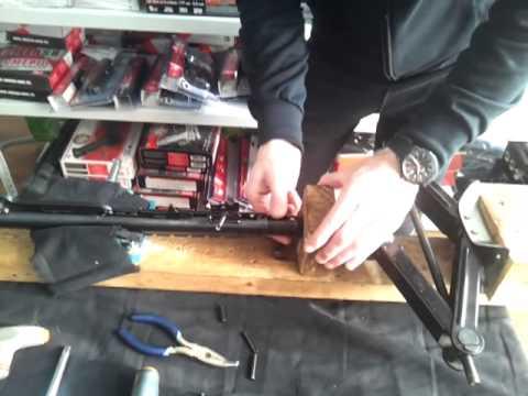 Как заменить пружину на воздушке хатсан