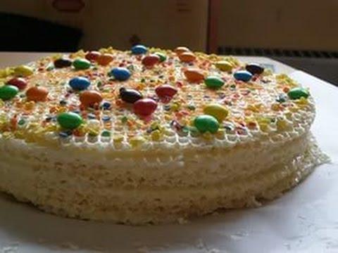 Торт вафельный со сгущенкой и фруктами рецепт