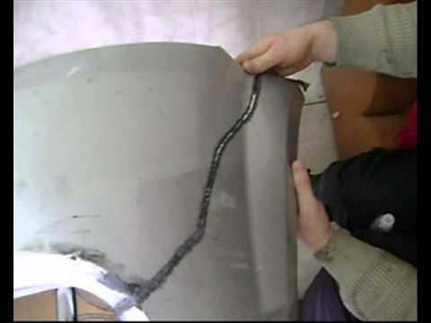 Как восстановить пластиковый бампер видео