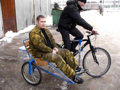 Боковой прицеп к велосипеду своими руками видео