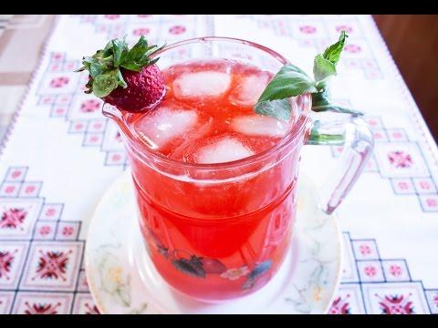 Сделать лимонад с клубникой в домашних условиях