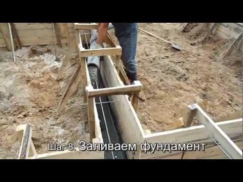 Изготовление ленточного фундамента своими руками