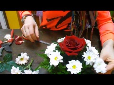 Как сделать композицию из живых цветов своими руками