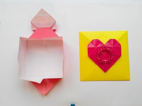 ГНТИ - Конверт с сердечком застежкой оригами, Envelope with heart clasp origami - Видеорепортажи из мира науки и техники