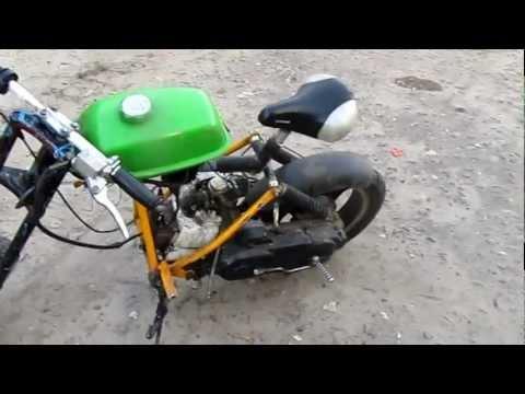 Как сделать питбайк  из бензопилы