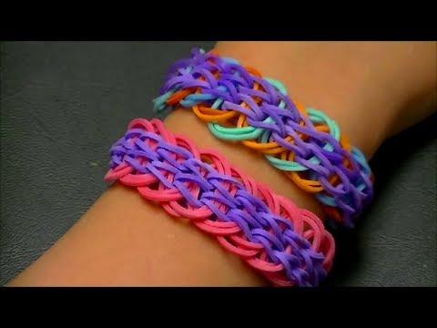 Плетение браслетов из резинок на станке видео