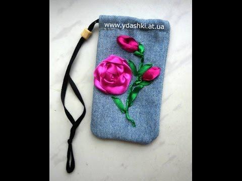 Чехол для телефона из джинса