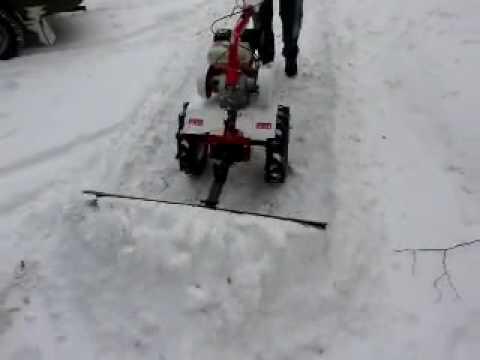 Самодельный снеговой отвал к мотоблоку
