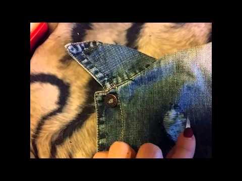 Как сделать дырки на джинсовой куртке
