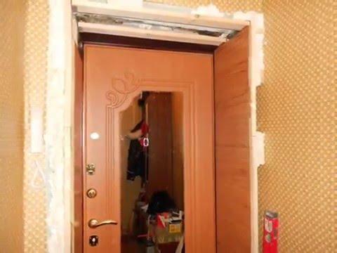 Откосы из ламината на входные двери своими