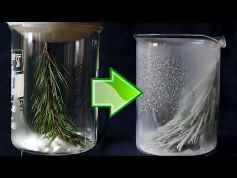 ГНТИ - Зима в стакане - красивый новогодний химический опыт! - Видеорепортажи из мира науки и техники