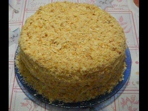 Лёгкий торта наполеон в домашних условиях
