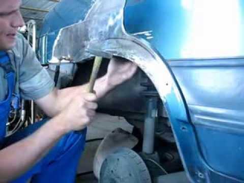 Ремонт заднего крыла ваз 21099