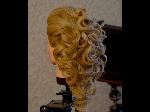 греческая прическа видео урок на длинные волосы