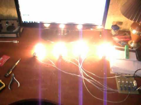 Цветомузыка на 220 вольт