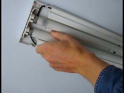 Замена люминесцентной лампы своими руками