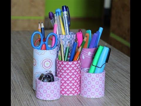 Подставки для карандашей и ручек своими руками