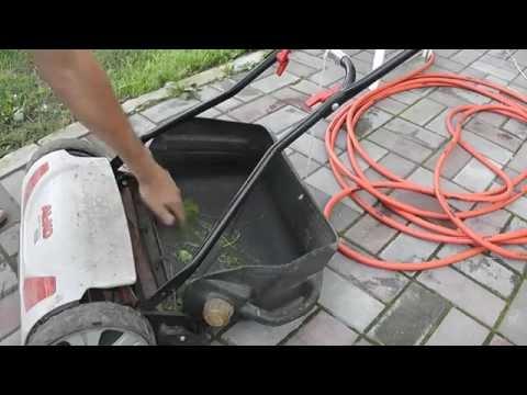 Газонокосилка электрическая с травосборником своими руками