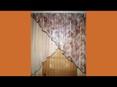Как пошить шторы на кухню своими руками выкройки фото