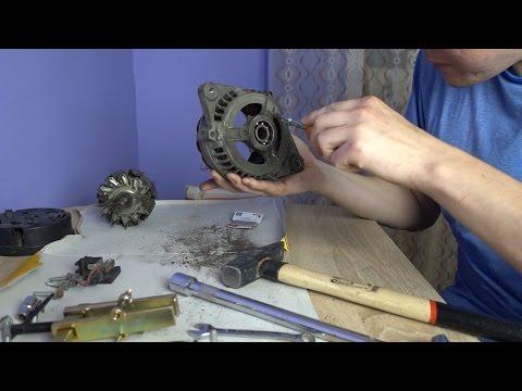 Замена подшипников в генераторе своими руками