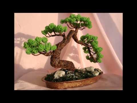 Дерево бонсай из бисера мастер класс