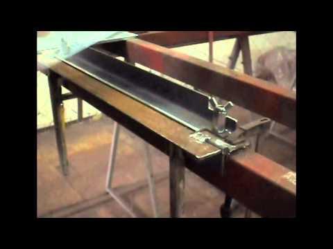 Как согнуть лист железа в домашних условиях видео