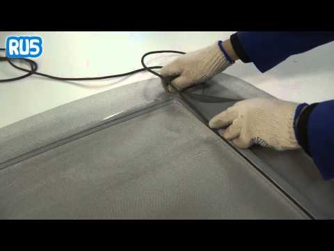 Как самому сделать москитную сетку на пластиковое окно видео