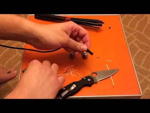 Как сделать наконечник шнурка