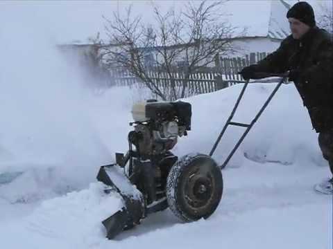Как сделать снегоротор своими руками видео