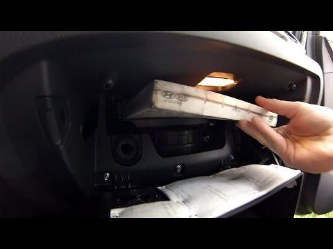 ГНТИ - Замена салонного фильтра Hyundai Tucson 2.0 дизель (2015) - Видеорепортажи из мира науки и техники